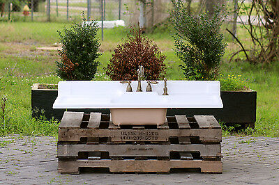 Refinished Double Drainboard Farm Sink Cast Iron Vintage Kitchen Sink Package