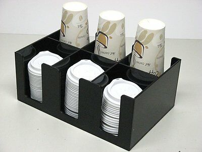 Blue Ice 6 Compartment Display Unit for Ice Cream Cones / Cups / Lids