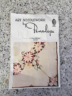 Gorgeous Vintage (? 50s / 60s) Art Needlework By Penelope Tablecloth kit cutwork