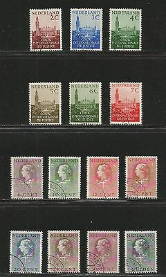 Netherlands 1951-58 Queen/Palace officials--Attractive Topical (O27-40) used