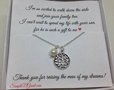 Mother of the Bride Groom Jewelry gift,Wedding Jewelry Gift,Family Tree Necklace