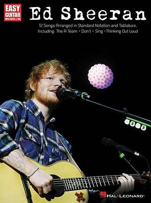 Ed Sheeran for Easy Guitar Sheet Music Book. Learn To Play Greatest Hits Best Of