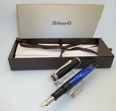 Pelikan Classic M205 Blue Marbled Fountain Pen M Nib, Unused