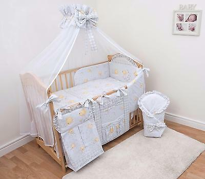 Luxury 12 Piece Cot Bedding Set 120x60 cm, Teddy Bears Grey