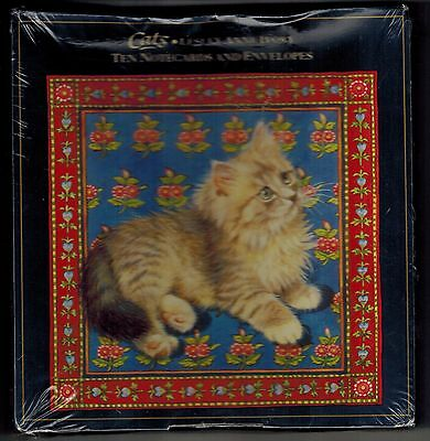 Nib Lesley Anne Ivory Cats Ten St Michael Note Cards And Envelopes In 2 Designs!