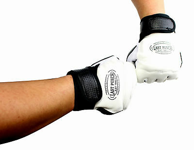 Pro Style Artificial Leather Taekwondo Fingerless Boxing Fighting MMA Training G