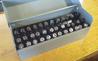 """CH HANSON 20627 3/8"""" Letter and Number Steel Stamp Set, 36 pc NEW! FREE SHIP #6C"""