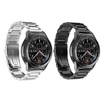 Samsung Gear S3 Watch Classic Premium Solid Stainless Steel Silver Black New