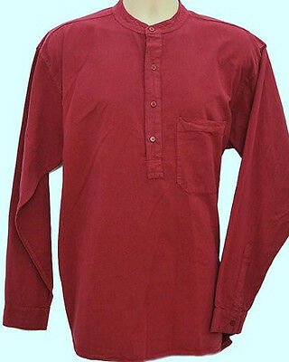 Grandad Shirt Original Collarless Shirt Co. Half /button Classic in 10 Colours