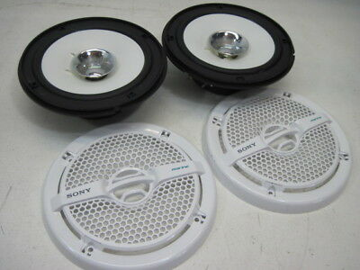 """Sony XS-MP1611 6.5"""" Peak 140W 2Way Dual-Cone Weather Marine Speakers 4 Oh Tested"""