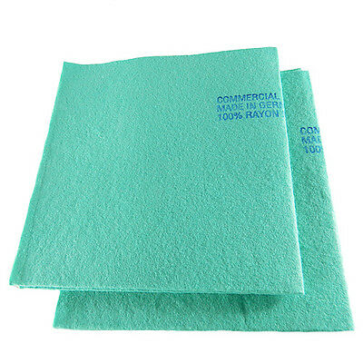 Shammy Super Absorbent Kitchen Spill Towel Cloth Green Made in Germany 2pcs Pack