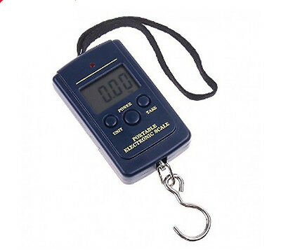Digital Weight Scale Hook Hanging Clip Travel Luggage Fishing Grocery 40kg 88lbs