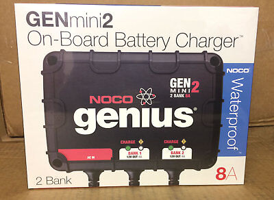 NOCO Genius GEN2 20 Amp 2-Bank Waterproof Smart On-Board Battery Charger
