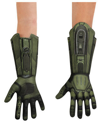 Childs Boys Deluxe Halo Master Chief Gloves Costume Accessory