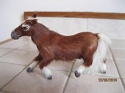 A Vintage  Horsehair Covered  Miniature Horse w/Glass Eyes