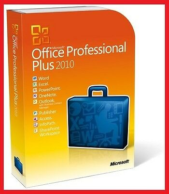 Microsoft Office 2010 Professional Plus Für 2 PC ✔ MS® Office ✔ PRO VOLLVERSION
