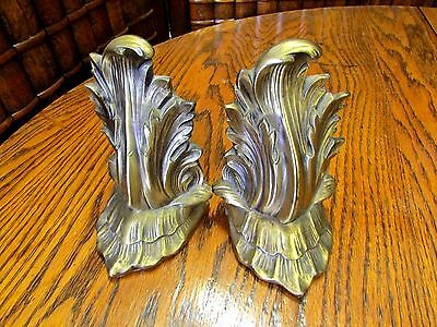 Philadelphia Mfg. Company, 92B, Floral leaf, Pair of bookends, Metal, book ends