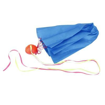 Mini Parachute Sky Flying Outdoor Sports Funny Toy Kids Xmas Gift Blue 65cm