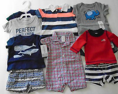 New 12 Pc. Lot Of Newborn Baby Boy Clothes 0-3 Months Nwt $140