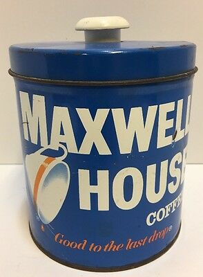 Vintage Maxwell House Coffee Tin  Canister