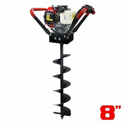 XtremepowerUS V-Type 55CC 2 Stroke Gas Post Hole Digger One Man Auger Digger +