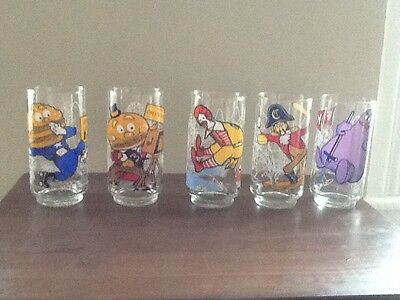 Set of 5 McDonald's Collector Series 1977 Glasses
