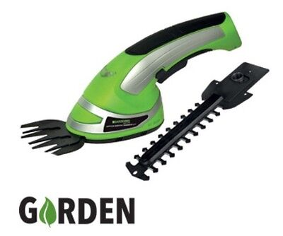 Garden Cordless Grass Shear & Hedge Trimmer Hand Held Shear 3.6V , 2-In-1