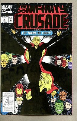 Infinity Crusade #1-1993 vf/nm Giant-Size Jim Starlin Foil cover Avengers Than