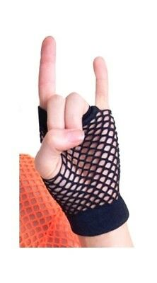 Sweida's Black Short Fishnet Gloves 80's Dress Up Party Costume Accessory