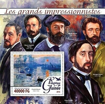 Z08 Imperforated GU16209b GUINEA 2016 Impressionists MNH