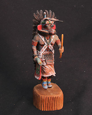 """Hopi Blue Ahote Kachina by Keith Torres 10"""" , Mint condition , very fine"""