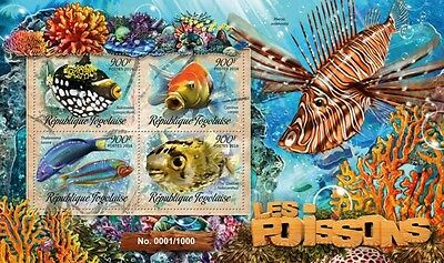 Z08 Imperforated TG16209a TOGO 2016 Fish MNH