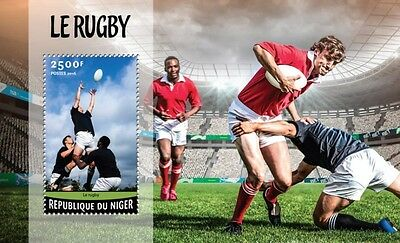 Z08 IMPERFORATED NIG16220b NIGER 2016 Rugby MNH