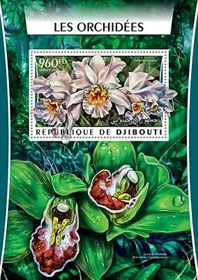 Z08 Imperforated DJB16303b DJIBOUTI 2016 Orchids MNH