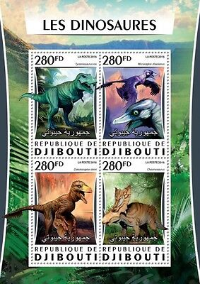 Z08 Imperforated DJB16304a DJIBOUTI 2016 Dinosaurs MNH
