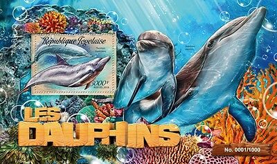 Z08 Imperforated TG16206b TOGO 2016 Dolphins MNH