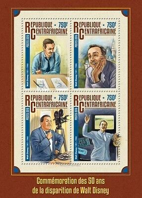 Z08 IMPERFORATED CA16304a CENTRAL AFRICA 2016 Walt Disney MNH