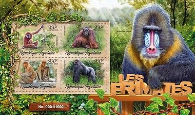 Z08 Imperforated TG16210a TOGO 2016 Primates MNH