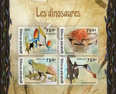 Z08 Imperforated NIG16207a NIGER 2016 Dinosaurs MNH