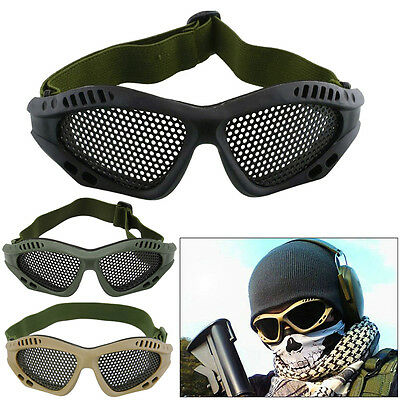 Paintball Tactical Airsoft Anti Fog Metal Mesh Goggles Eye Safety Glasses Mask