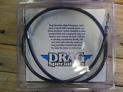 "Harley Davidson speedometer speedo cable 38.5"" black brand new 0655-0038"