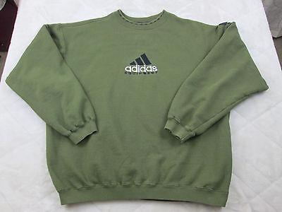 Men's Vintage Adidas Equipment Crewneck Green Sweater Size LARGE Sport M221