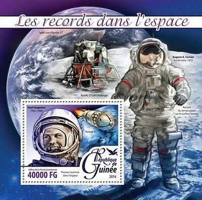 Z08 Imperforated GU16211b GUINEA 2016 Space MNH