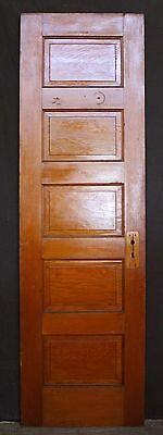 "24""x77"" Antique Vintage Fir Wood Wooden Interior Closet Pantry Door Raised Panel"