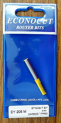 """Router Bit 6mm Straight 1/4"""" Shank Econocut by Carbitool Carb-i-tool EY206M"""