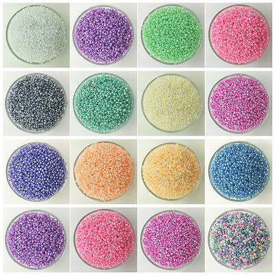NEW DIY 2MM 3MM 4MM Size Glass Cream Seed Spacer beads Jewelry Fitting UK