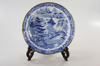 ANTIQUE EARLY 19th Century BLUE WHITE PLATE marked