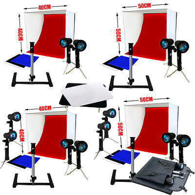 40/50CM Photo Softbox Lighting Studio Cube Soft Box Light Tent Stand Display Kit