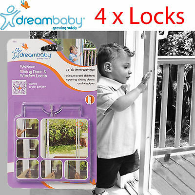 4 x Security Sliding Door and Window Lock for Push-pull Door Child Pet Safety AU