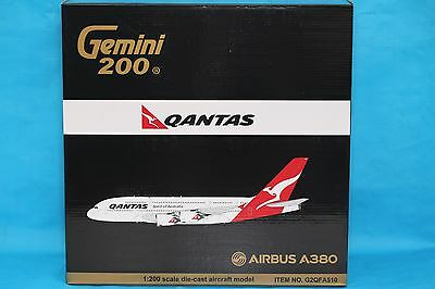 Brand New Gemini Jets 1:200 Qantas Airways Airbus A380-800 G2QFA510 With Stand